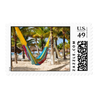 Colorful Mayan Hammock Cozumel Mexico Stamps