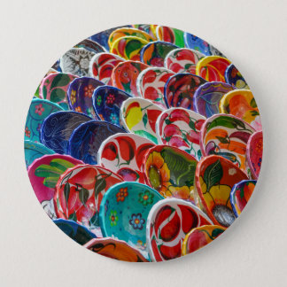 Colorful Mayan Mexican Bowls Pinback Button