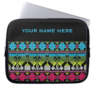 Colorful mayan pattern computer sleeve