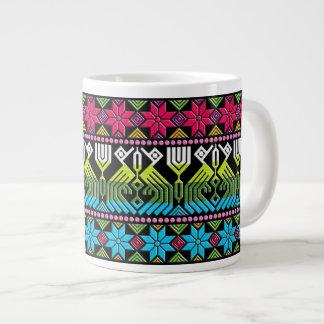 Colorful mayan pattern large coffee mug