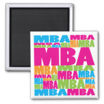 Colorful MBA 2 Inch Square Magnet