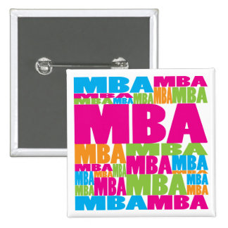 Colorful MBA Pinback Buttons