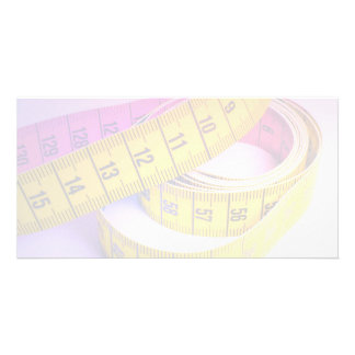 Colorful measuring tape card