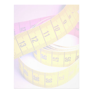Colorful measuring tape flyer