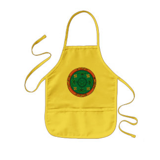 Colorful Medallion Design and Peace Sign Aprons