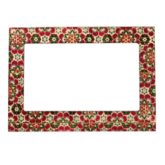 Colorful Medici Fabric Magnetic Picture Frame