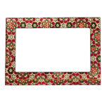 Colorful Medici Fabric Picture Frame Magnet