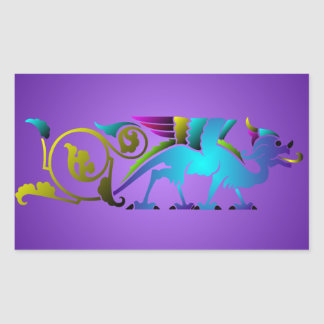 Colorful Medieval Dragon Sticker