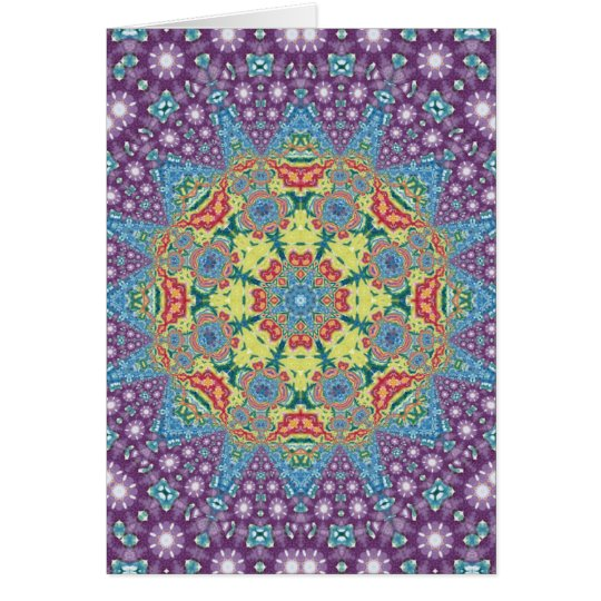 Colorful Meditation Mandala Card