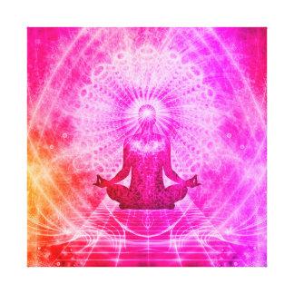 Colorful Meditation Spiritual Yoga Lotus Pose Canvas Print