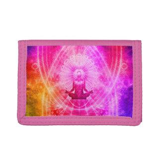 Colorful Meditation Spiritual Yoga Tri-fold Wallet