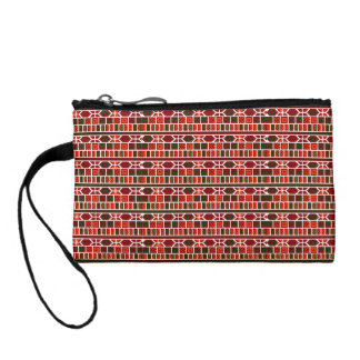 Colorful Mediterranean Traditional Pattern Design Coin Wallet
