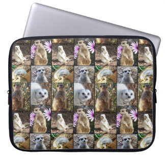 Colorful Meerkat Images In A Photo Collage, Computer Sleeve