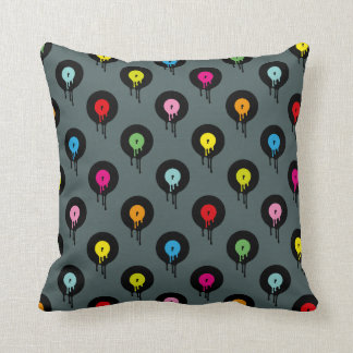 Colorful Melting Vinyl Record Dot Pattern Pillow