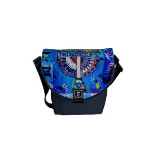 Colorful Menorah Courier Bag