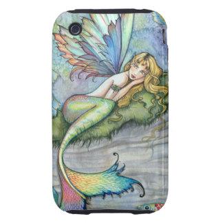 Colorful Mermaid and Carp Fish Fantasy Art iPhone 3 Tough Covers