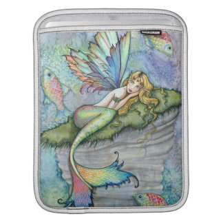 Colorful Mermaid and Carp Fish Fantasy Art Sleeve For iPads