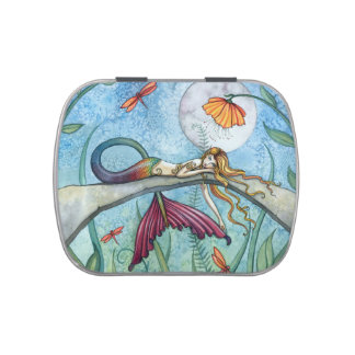 Colorful Mermaid Fantasy Art Jelly Belly Candy Tins