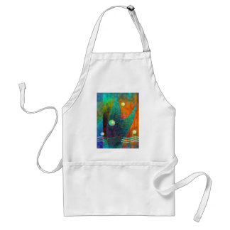 Colorful Mermaid Tail Orange Abstract Adult Apron