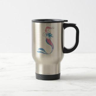 Colorful Mermaid Travel Mug