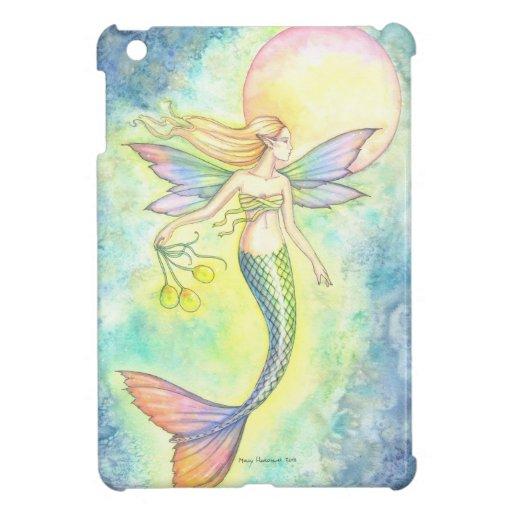 Colorful Mermaid Watercolor Illustration iPad Mini Cover