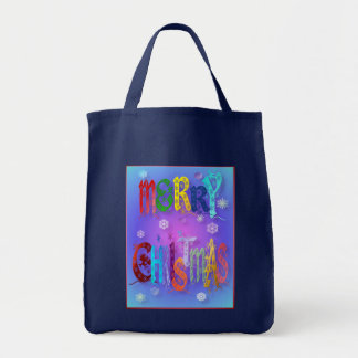 Colorful Merry Christmas Bags