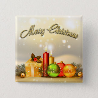 Colorful Merry Christmas Candle Decorations Button