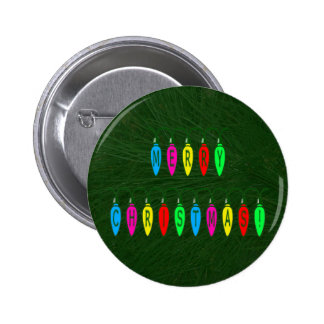 Colorful Merry Christmas Lights Font Button