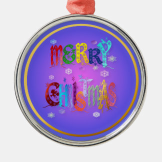 Colorful Merry Christmas  Ornament