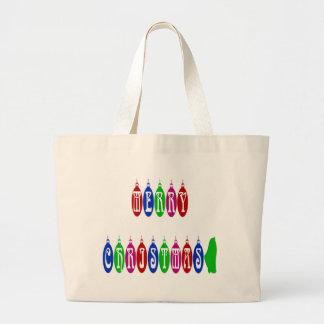 Colorful Merry Christmas Ornament Font Bag