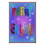Colorful Merry Christmas Poster-large