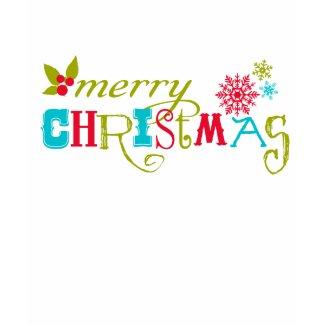 Colorful Merry Christmas shirt
