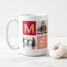 Colorful Merry Multi Photo Holiday Photo Mug