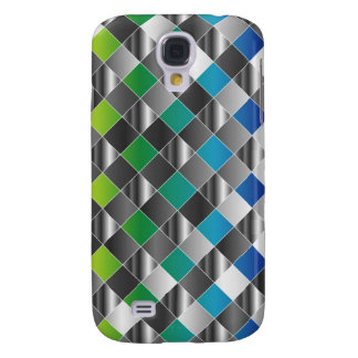 Colorful metal grid galaxy s4 cover
