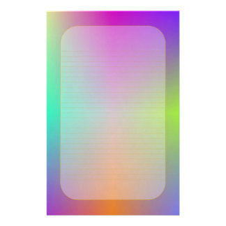"""Colorful Metallic"" Fine Lined Stationery"