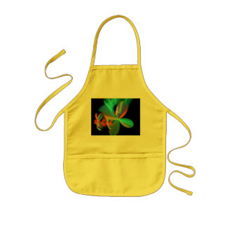 Colorful Metallic Flower Petals Kids' Apron