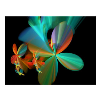 Colorful Metallic Flower Petals Posters