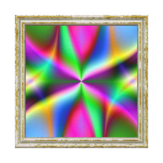 Colorful Metallic Fractal Lustre Canvas Print