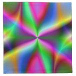 Colorful Metallic Fractal Lustre Cloth Napkin