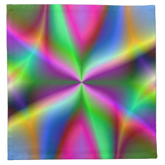 Colorful Metallic Fractal Lustre Cloth Napkin