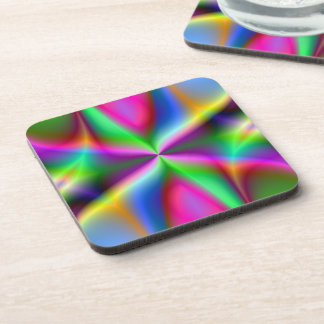 Colorful Metallic Fractal Lustre Drink Coaster