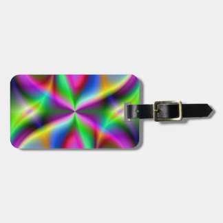 Colorful Metallic Fractal Lustre Bag Tag