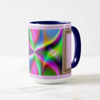 Colorful Metallic Fractal Lustre Mug