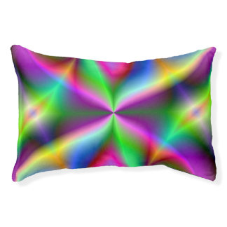 Colorful Metallic Fractal Lustre Pet Bed