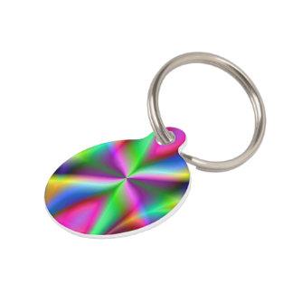 Colorful Metallic Fractal Lustre Pet ID Tag