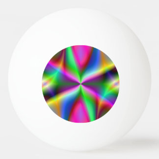 Colorful Metallic Fractal Lustre Ping-Pong Ball