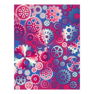"Colorful metallic gears 8.5"" x 11"" flyer"