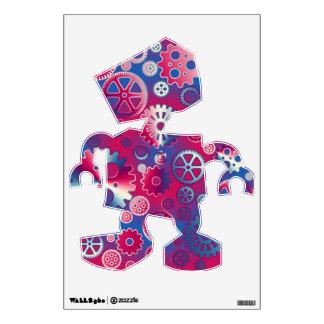 Colorful metallic gears wall decal