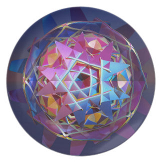 Colorful metallic orb plate