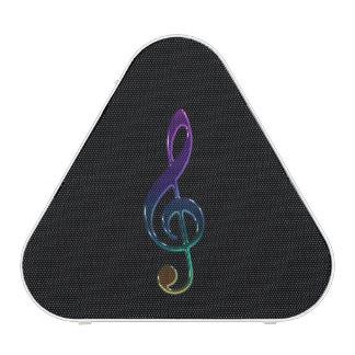 Colorful Metallic Treble Clef Bluetooth Speaker